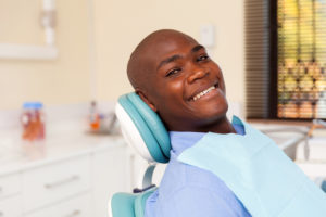 young man in the dental chair